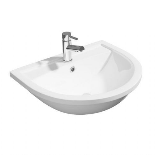 Kartell Lifestyle Semi Recessed Basin - 1 Tap Hole - White